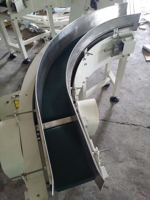 PVC بو 90 درجة منحنى الحزام الناقل