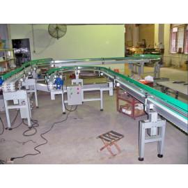 Factory material handling plastic flex conveyor system