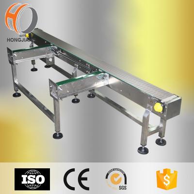 Plastic flat top chain PU belt material handling conveyors