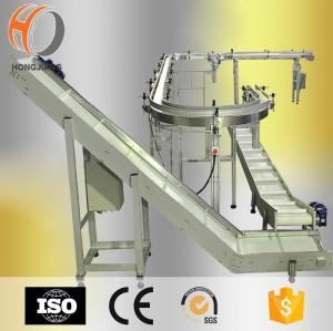 conveyor belt for meat processing bucket lifting conveyor