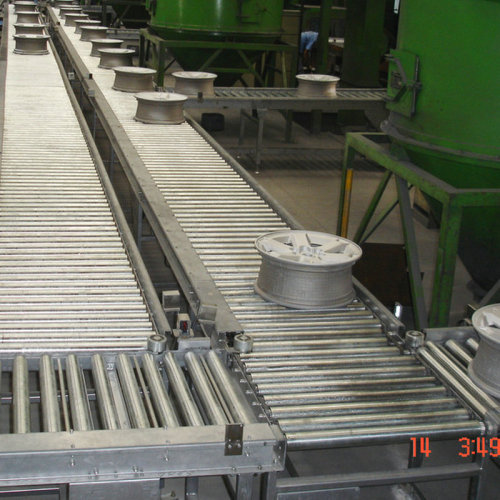 Roller Tire conveyor، Belt conveyor system system for tyre industry