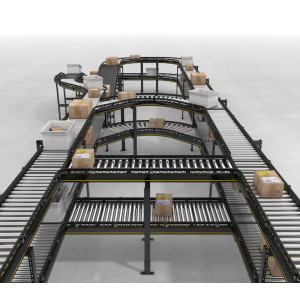 sistema de rodillos transportadores de tubo transportador de rodillos Equipo de transporte logístico