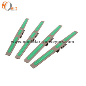 H406 screw conveyor flexible rubber plastic chain for food beverage oil water buckets carbon transmission