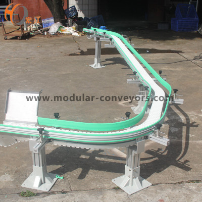 Flexlink chain conveyor for fish food transmission