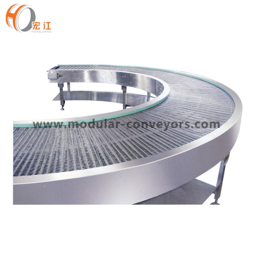 الفولاذ المقاوم للصدأ حزام سير شبكة منحنية