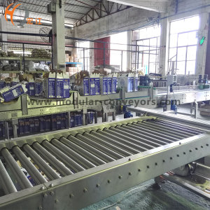 material handling roller gravity conveyor plastic belt processing conveying line for milk transmission