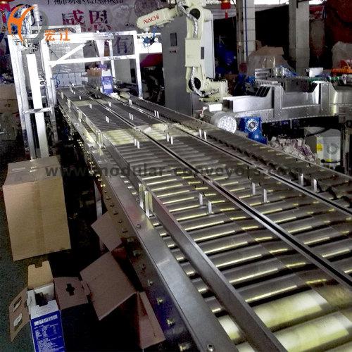 مناولة المواد الأسطوانة الجاذبية ناقل البلاستيك حزام تجهيز نقل خط لانتقال الحليب