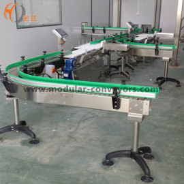 curve slat chain conveyors for food transfer food grade conveyor system