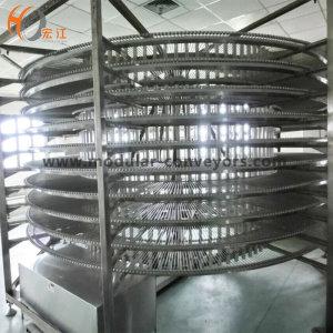 Хромированная спиральная охлаждающая башня U-образный цепной спиральный конвейер