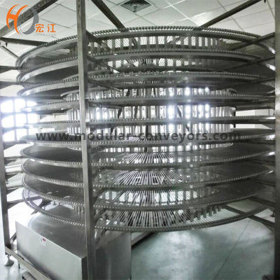 Bread spiral cooling tower U-shaped chain spiral conveyor