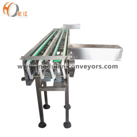 H1108 small pitch plastic chain conveyor for round Circular metal block