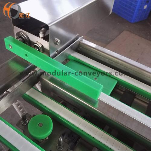 Transportador de cadena de plástico de pequeño tamaño H1108 para bloque circular circular de metal