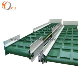 PU rubber belt conveyor with barrier