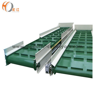 PU rubber belt conveyor with barrier