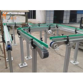 Línea transportadora de plástico flexible antiestática.