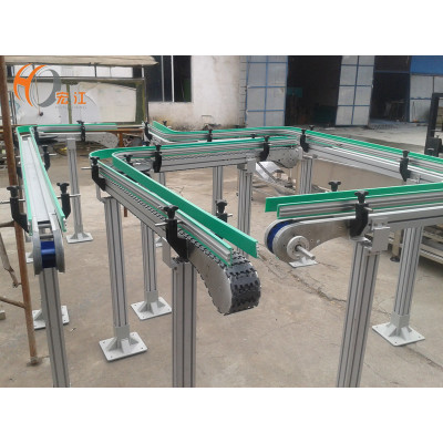 anti-static plastic flexible chain conveyor line