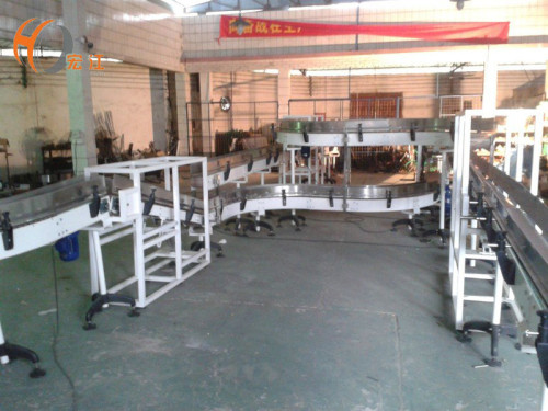 Customized H882TAB H880TAB table top flexible plastic chain conveyor