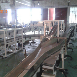 Customized H882TAB H880TAB table top flexible plastic chain conveyor