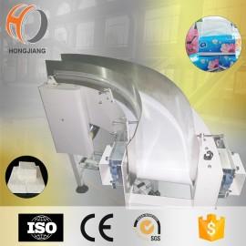 PVC PU white belt 90 degree conveyor