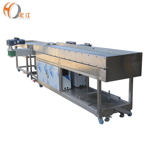 S.S roller working table with PVC belt bottle transmission conveyor line