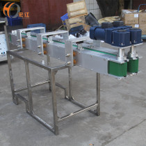S.S roller working table with PVC belt bottle transmission conveyor line