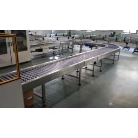 pallet roller conveyor systems for beverage carton transmission