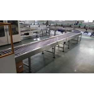 pallet roller conveyor systems for beverage carton transmission