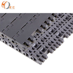 Pitch 25.4 mm Plastic Flat Top Modular slat Conveyor Belt H7705