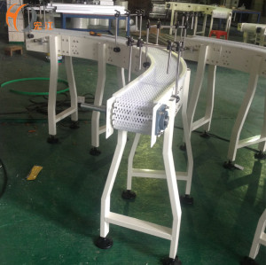 Factory material handling equipment customized white plastic modular belt chain conveyor line