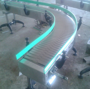 POM plastic  uni 882TAB flat top chain flexible conveyor equipment