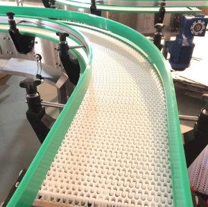 Guangzhou Hongjiang plastic modular belt bulk handling flexible conveyor