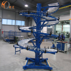 gravity roller spiral conveyor