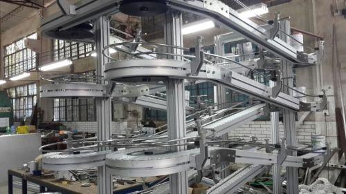Accumulation Conveyor/Spiral/Horizontal flexible plastic chain conveyor line