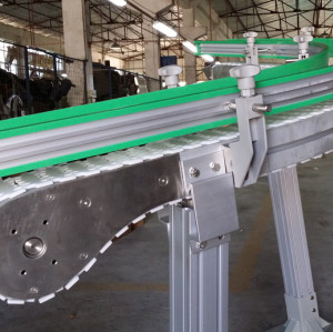 Plastsic flexlink modular chain mini inclined conveyor