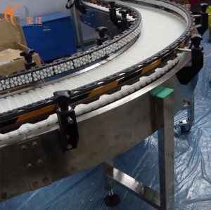 belt conveyor system curved flexible modular belt conveyor line