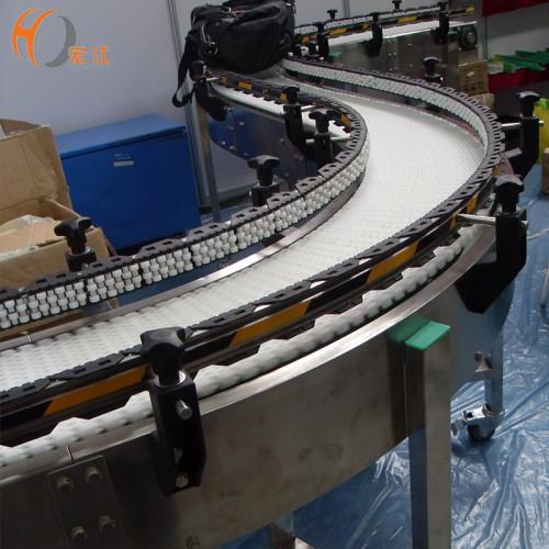 belt conveyor system curved flexible modular belt conveyor line
