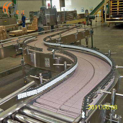 HBP821 Plastic Modular Conveyor Belt with Roller Track Conveyor for Roller Conveyor System