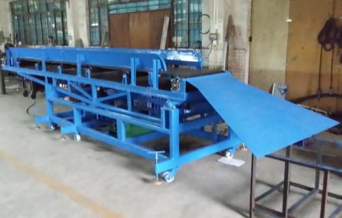 rubber belt movable conveyor for carton, coal etc.