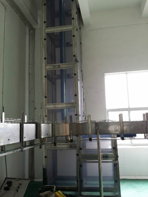 rubber gripper chain elevator conveyor for bottle transmission