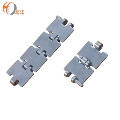 HS803 flat top straight running stainless steel single hinge chain