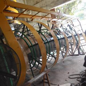 Flexible Chain Vertical lift spiral conveyor system design