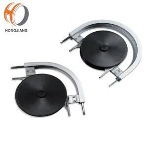 Horizontal wheel bend for flexible chain conveyor