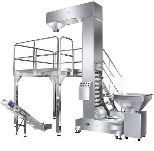 Food grade material conveyor hooper elevator Z type buckets elevator