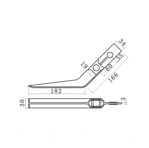Conveyor component contact stick for electric eye control lever use for conveyor system