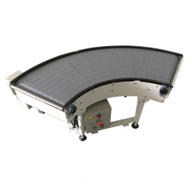 Plastic modular belt conveyor curve conveyor 90 and 180 degree turning machine