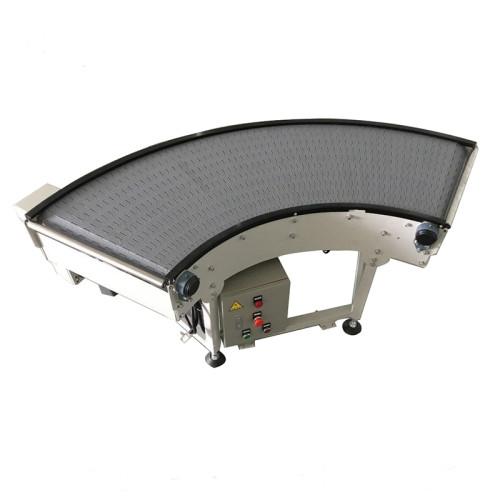 Plastic modular belt conveyor curve conveyor 90 and 180 degree turning machine