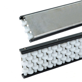 Conveyor components H128-99 U3 plastic POM stainless side guides 99mm