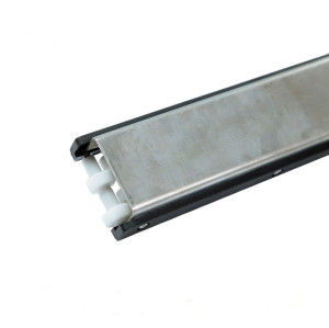 H128-73 U2 divider module stainless Steel conveyor with roller straight running side guide