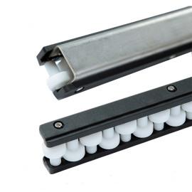 H128-47 U1 type conveyor single row roll ball straight running guides