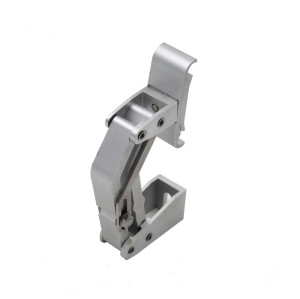 H2011 aluminium guide rail clamp / 12mm double round pipe rail clamp for conveyor